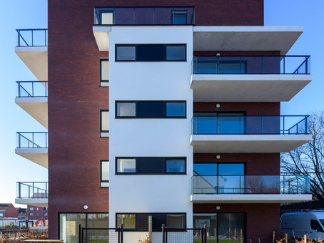 Phase 1 of residence 'Theodoor' is completed (Barco site, Kortrijk)