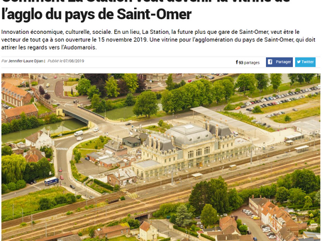 Train station becomes the new façade of Saint-Omer
