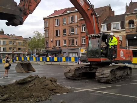 Official start of works at place du Miroir/Spiegelplein