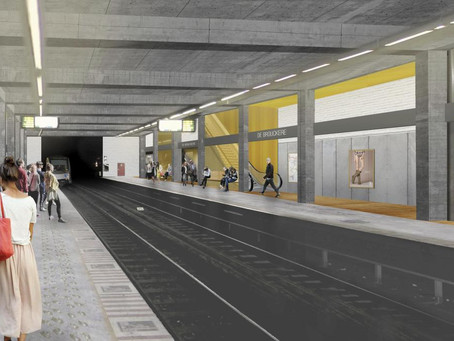 News from the sites: metrostation De Brouckère and pre-metrostation De Brouckère