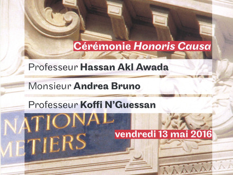 Doctor Honoris Causa ceremony for Andrea Bruno