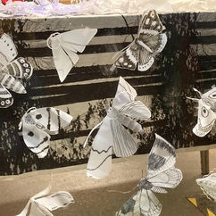Art & Energy Collective's milk bottle moths