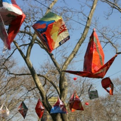 giacinta frisillo's fused plastic bag lanterns