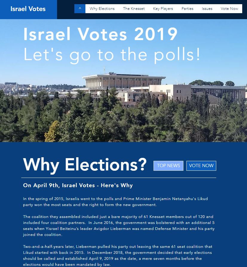 Israel Votes | Online Elections