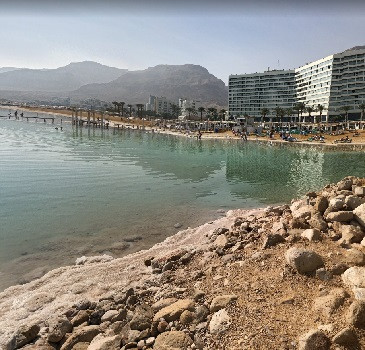 Dead Sea Beach and Hotels