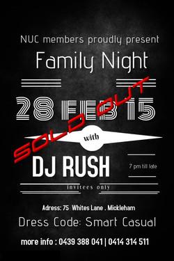 Family NIGHT 2015 ft DJ RUSH