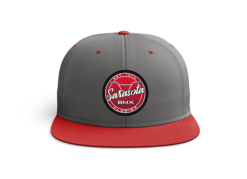 Sarasota BMX Pro Patch Grey/Red Hat
