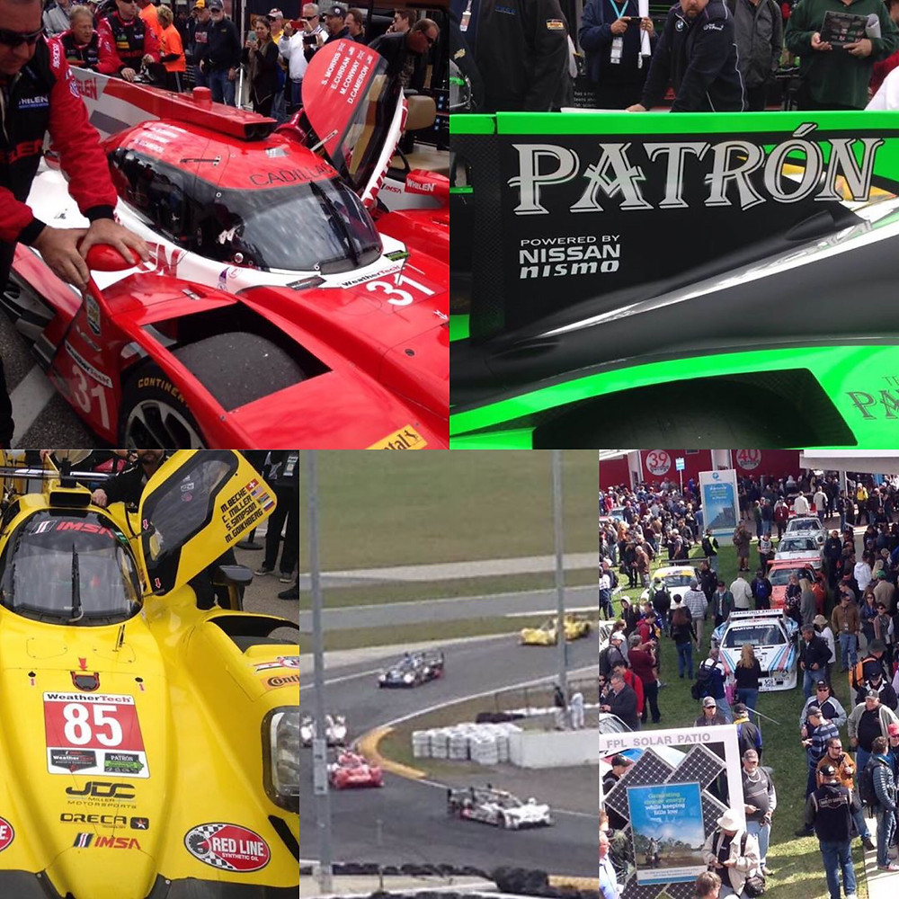Team SCL with some LMP and GTLM cars at the 24hrs of Daytona.