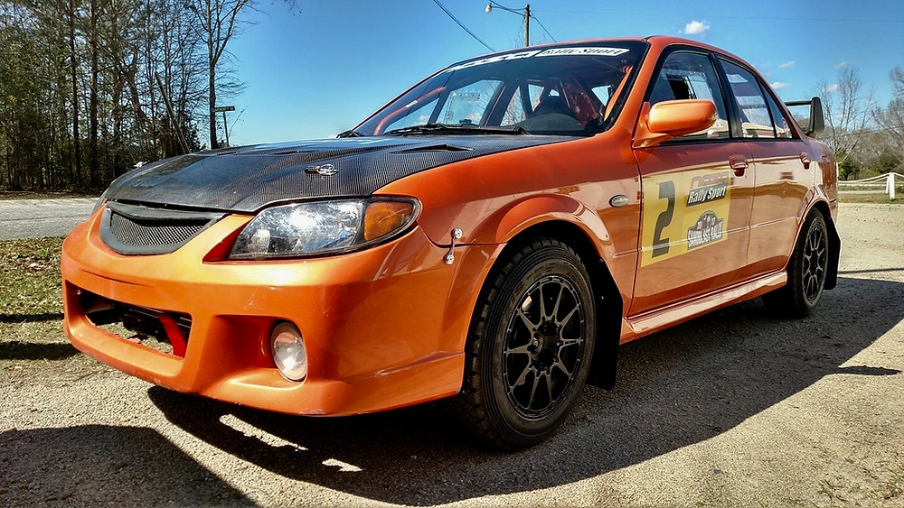 SCL Racing Rally Mazda Protege at Sandblast
