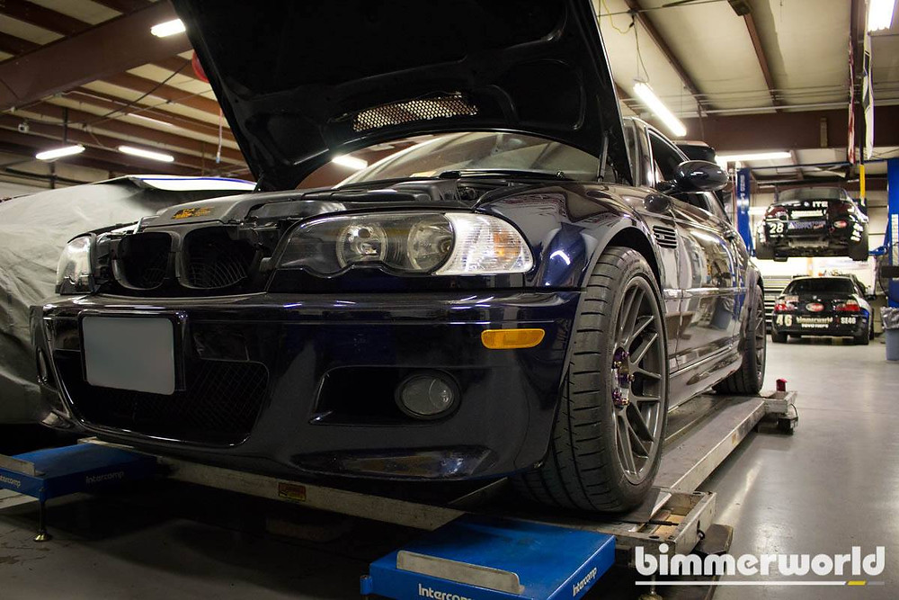 SCL Racing e46 BMW M3 at Bimmerworld for upgrades