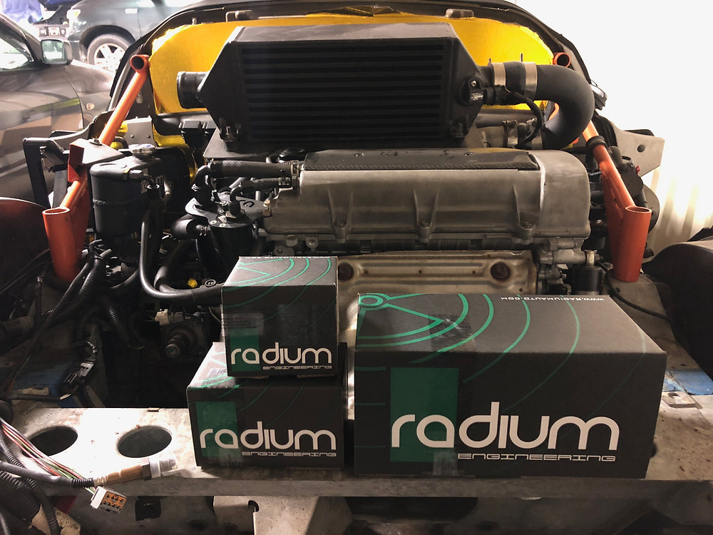 Radium parts for the SCL Racing Lotus Exige