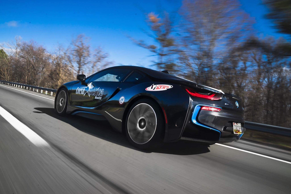 SCL Racing BMW i8 on Corsa America Rally