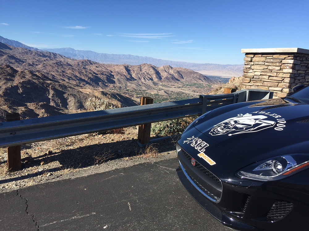 SCL Racing Jaguar F-Type in the desert on the Corsa America Rally