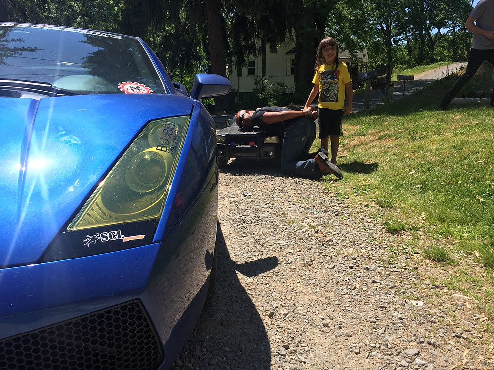 SCL Racing Lamborghini Gallardo surprised boy on his birthday on the Corsa America Rally