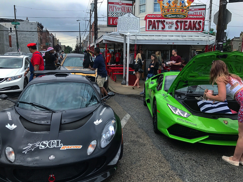 SCL Racing Lotus Exige in Philadelphia with Lamborghini Huracan