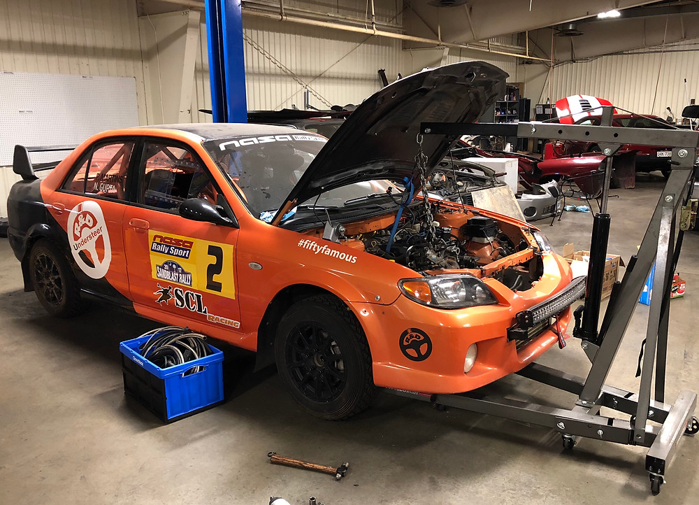 Mazdaspeed Protege Motor Install