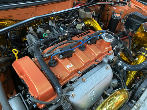Rally protege engine bay