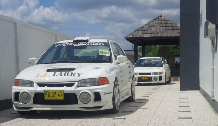 SCL Racing Mitsubishi Evolution V and IV lined up
