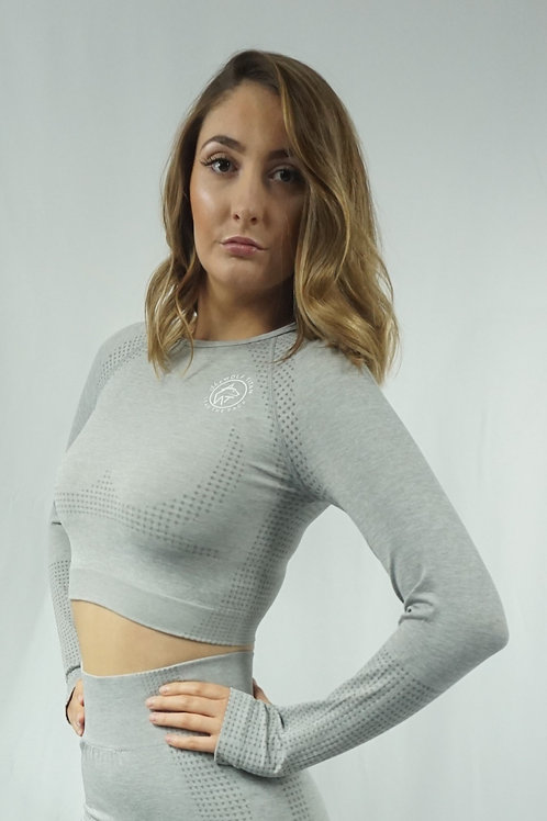 OMEGA Lite Active Long Sleeve Tops - Grey