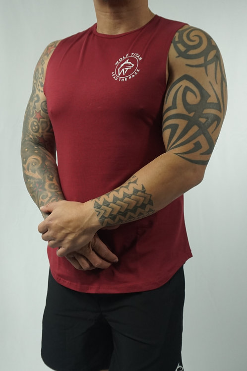 WOLF TITAN Muscle Stringer - Red