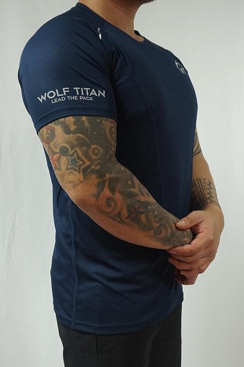 WOLF TITAN Classic Fitness 3 T-Shirt - Blue