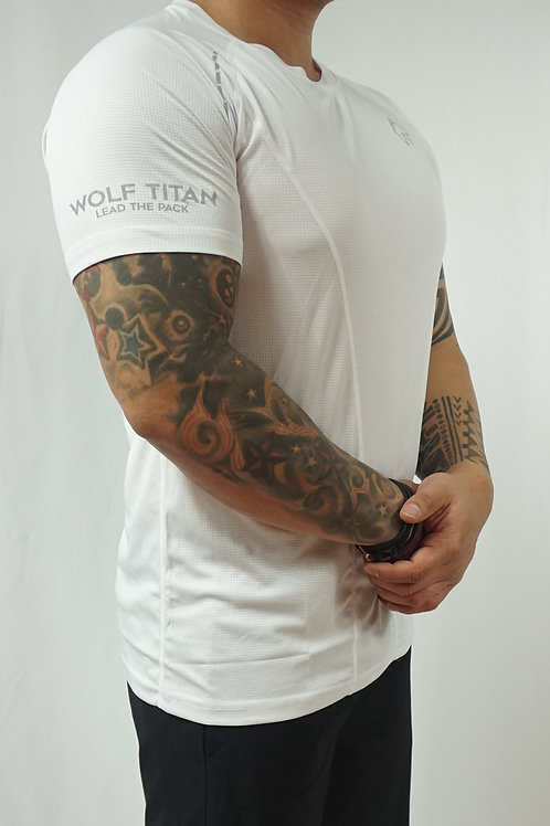 WOLF TITAN Classic Fitness 3 T-Shirt - White