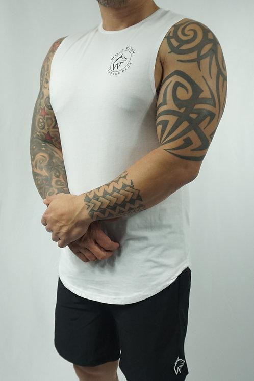 WOLF TITAN Muscle Stringer - White