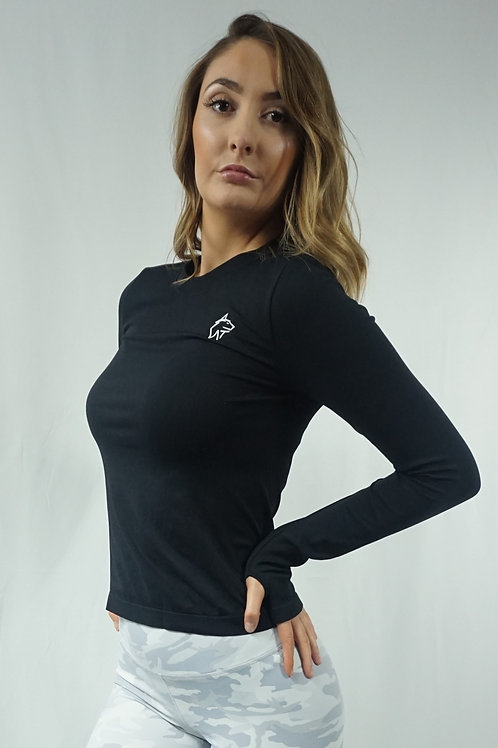 LUNA Classic Long Sleeve Top - Black