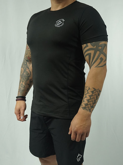 WOLF TITAN compression fitted LITE Active T-Shirt - Black