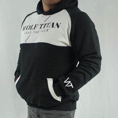 WOLF TITAN Challenger Unisex Thick Cotton Hoodie - Black