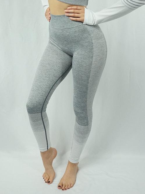 OMBRE Active Leggings - White/Grey