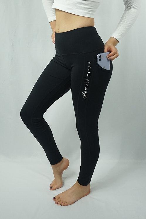LUNA Pocket Leggings - Black