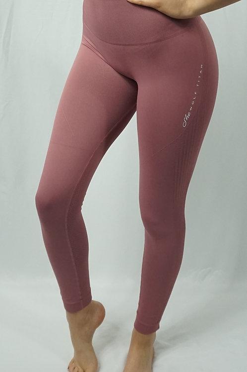 LUNA Seamless Active Leggings - Blush Pink