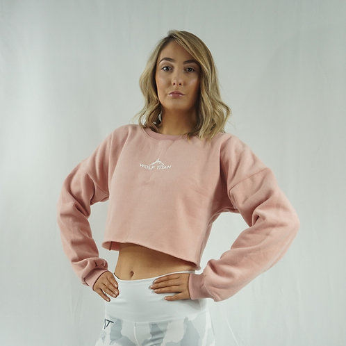 SPARTAN Extra Cosy Womens Cropped Sweater - Pink