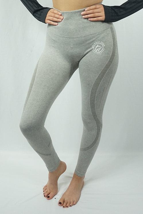 BETA Raised Seamless Active Leggings - Light Grey
