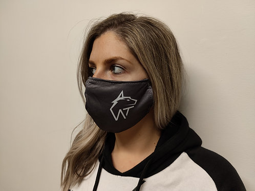 WOLF TITAN Challenger Grey Unisex Branded Face Cover