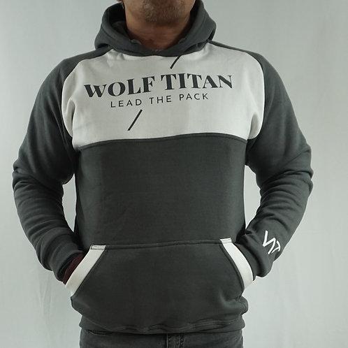 WOLF TITAN Challenger Unisex Thick Cotton Hoodie - Grey