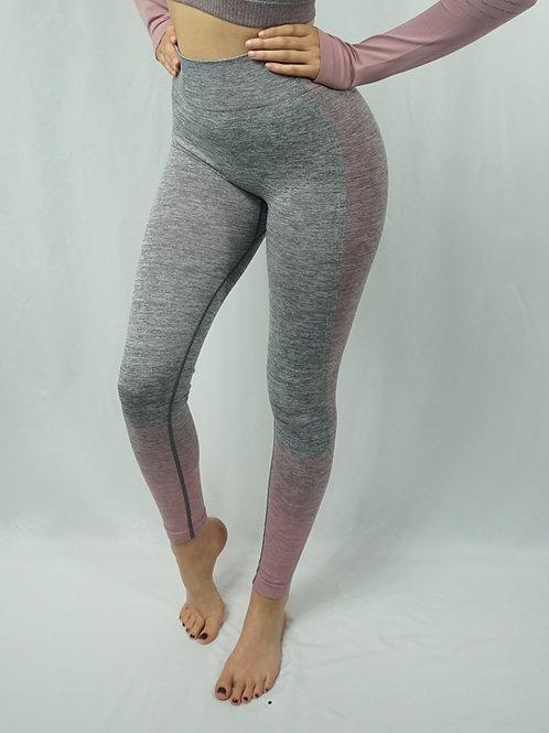 OMBRE Active Leggings - Pink/Grey