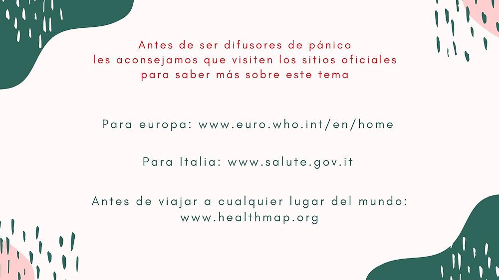 Sitios Web Oficiales para tener información correcta