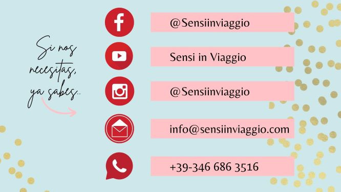 Nuestros contactos - Sensi in Viaggio