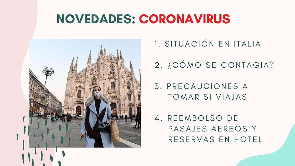 Coronavirus - Novedades en Italia