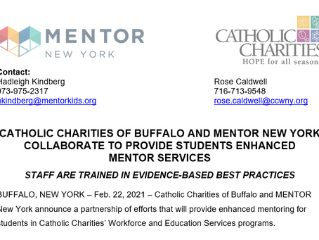 CATHOLIC CHARITIES OF BUFFALO AND MENTOR NEW YORK COLLABORATE TO PROVIDE STUDENTS ENHANCEDMENTOR SE