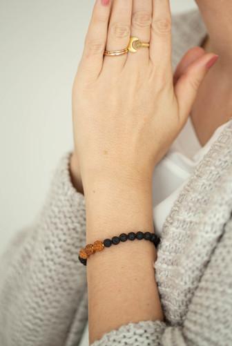 Rudraksha Lava Armband