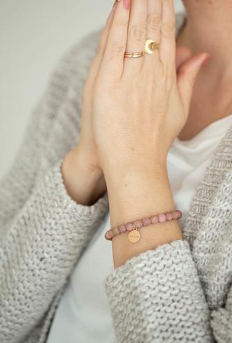 Rhodonit Sandelholz Armband