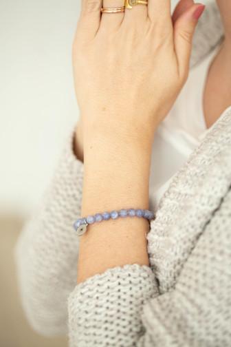 Aquamarin Sandelholz Armband