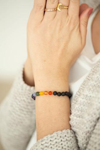 Chakra Lava Armband