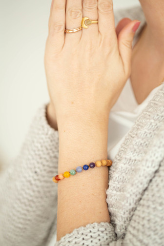 Chakra Sandelholz Armband