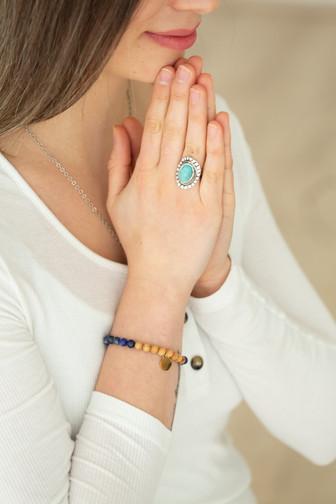 Lapis Lazuli Sandelhoz Armband