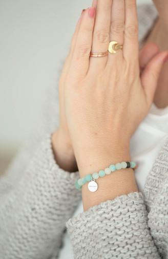 Amazonit Sandelholz Armband