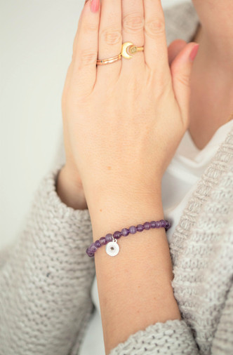 Amethyst Sandelholz Armband